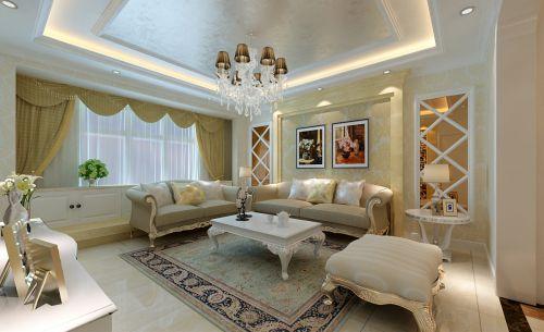 简约欧式风格四居室客厅装修效果图欣赏