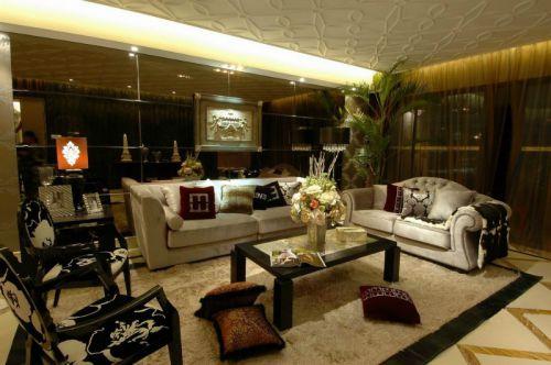 新古典欧式风格二居室客厅装修图片