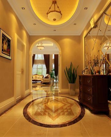 欧式古典别墅客厅装修图片欣赏