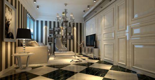 欧式,简约,清新四居室客厅装修图片