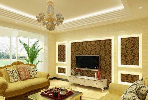 简约欧式三居室客厅装修图片