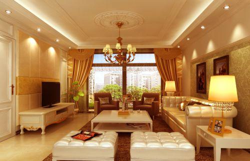 欧式豪华风格五居室客厅装修图片