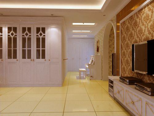 简约欧式别墅客厅装修效果图