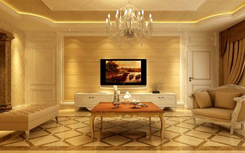 欧式,奢华四居室客厅装修效果图欣赏