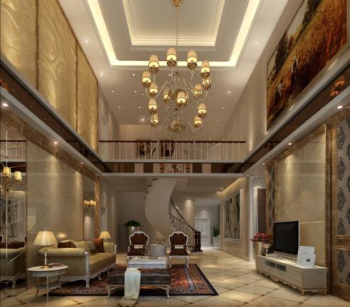 欧式风格别墅客厅装修图片欣赏