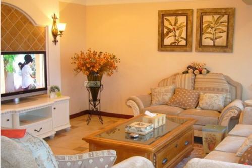 欧式一居室客厅装修效果图欣赏