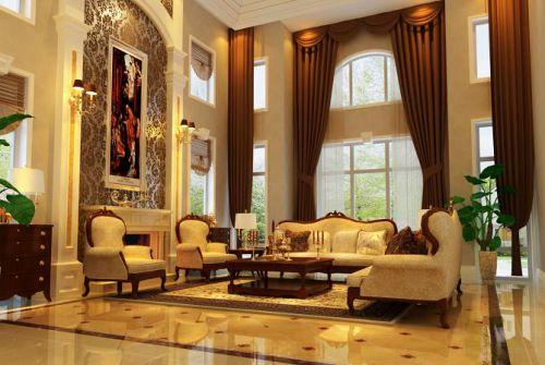 欧式古典别墅客厅装修图片