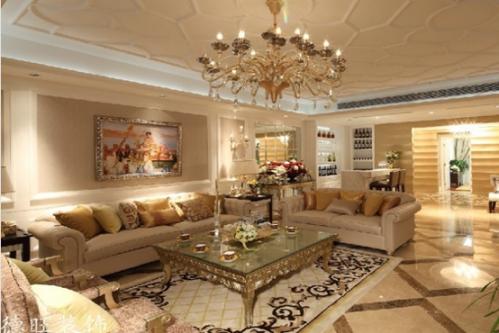 欧式二居室客厅装修效果图大全