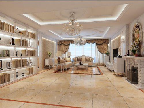 欧式奢华五居室客厅装修图片欣赏