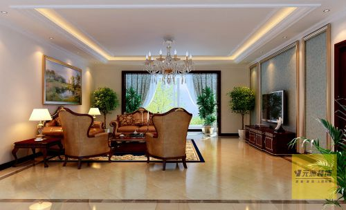 欧式风格三居室客厅装修图片