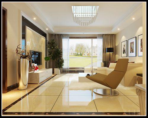 欧式混搭二居室客厅装修效果图欣赏