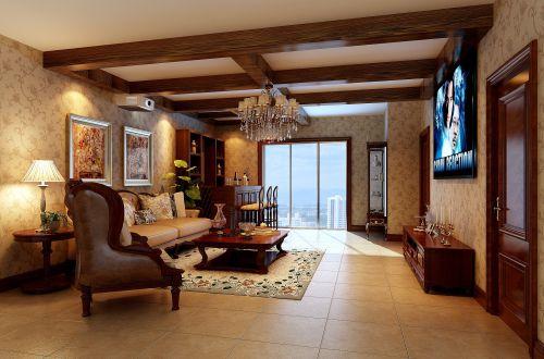 简约欧式四居室客厅装修图片欣赏