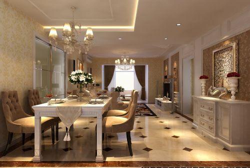 欧式古典二居室客厅装修效果图欣赏