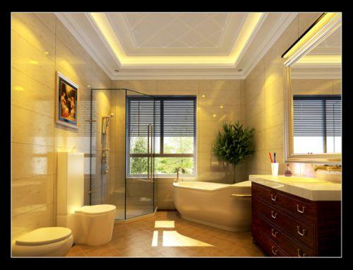 欧式古典四居室客厅装修效果图