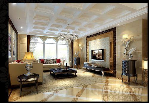 欧式,奢华,古典别墅客厅装修效果图欣赏