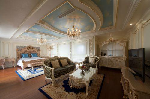 精致奢华欧式风格典雅客厅装修设计图