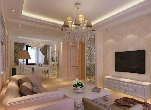 85平米实用两居室欧式风格客餐厅装修效果图设计欣赏