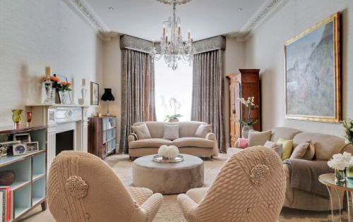 浪漫精致优雅欧式风格客厅装修设计