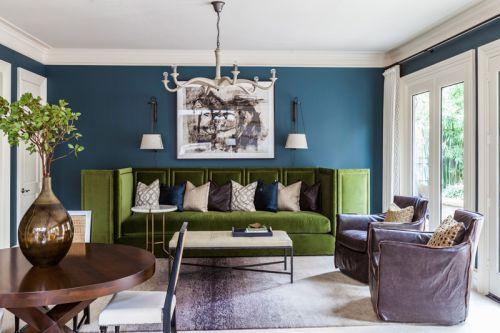 华丽轻奢欧式风格客厅组合沙发效果图