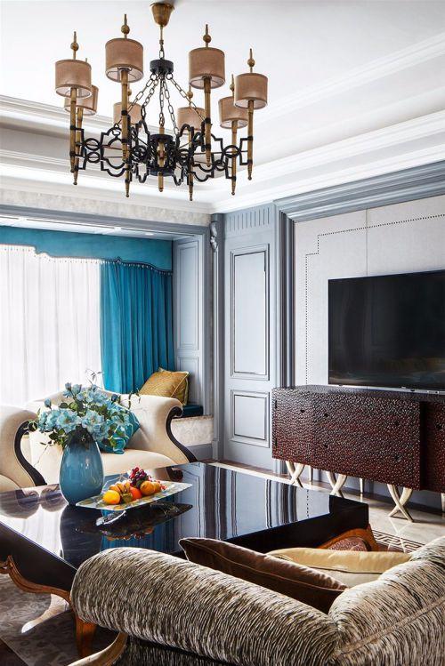 时尚气质欧式风格轻奢客厅装修设计