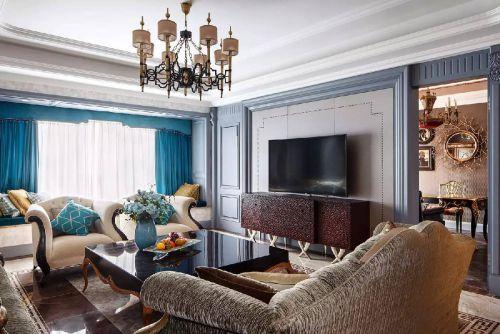 典雅复古欧式风格奢华客厅装修设计