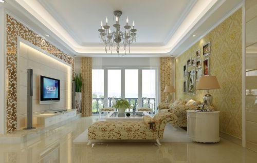 田园风格二居室客厅装修效果图欣赏