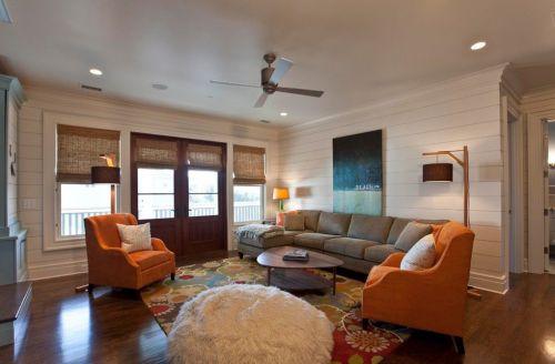 色彩艳丽的简约乡村风家居客厅装修效果图