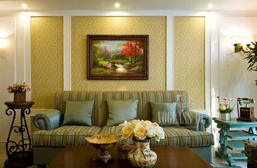 田园风格别墅客厅装修效果图欣赏
