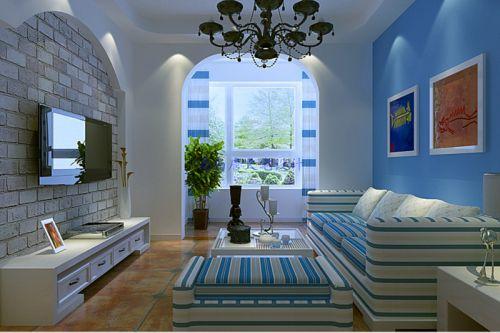 田园风格二居室客厅装修图片欣赏