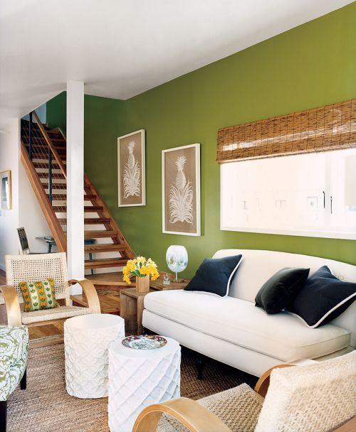 绿色田园风格客厅装修效果图