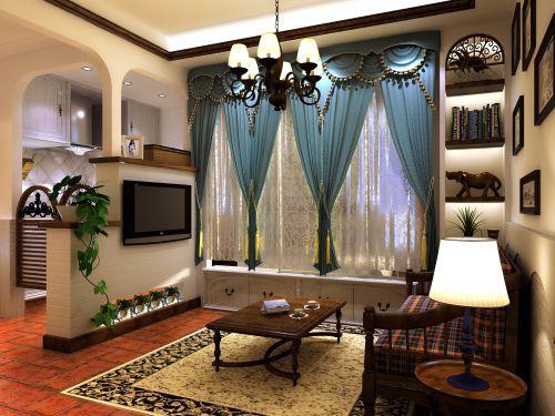 田园风格一居室客厅装修图片欣赏