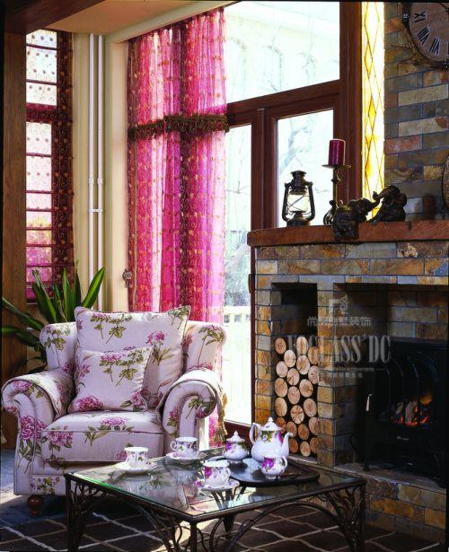 田园风格五居室客厅装修图片