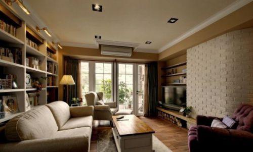 田园风格四居室客厅装修效果图