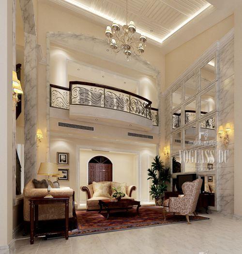 田园风格五居室客厅吊顶装修效果图大全