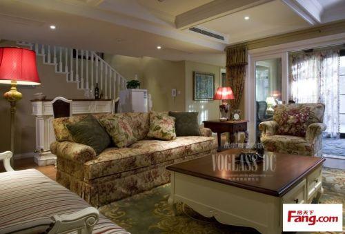 田园风格别墅客厅装修效果图大全