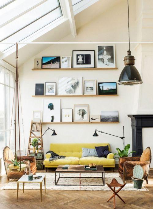 白色田园风格大客厅背景墙效果图