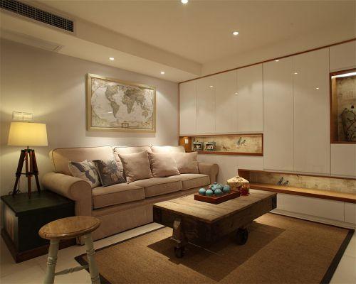 田园风格一居室客厅隔断装修效果图欣赏
