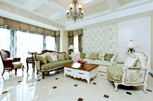 田园风格六居室客厅隔断装修效果图欣赏