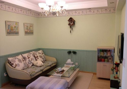 田园风格二居室客厅沙发装修效果图欣赏