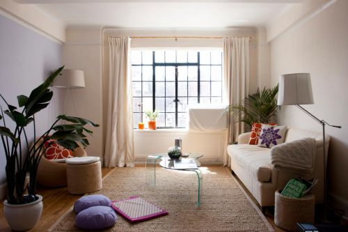 30平米单身公寓优雅田园风客厅装修图片
