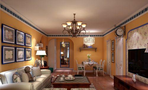 田园风格二居室客厅照片墙装修效果图大全