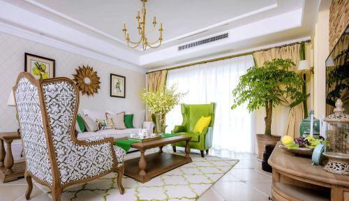 热带风情68平两居室田园风格客厅装修效果图