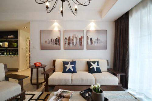 美式田园二居室客厅装修图片