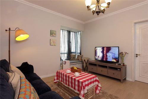 田园风格二居室客厅灯具装修效果图大全