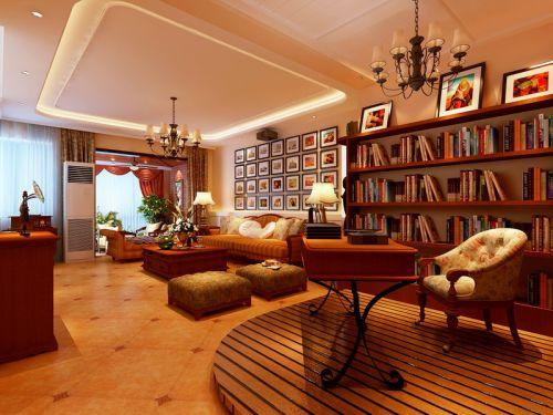 田园风格三居室客厅装修图片