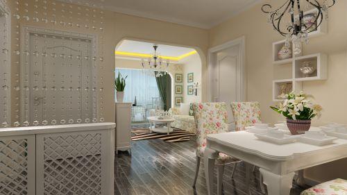 田园风格二居室客厅飘窗装修效果图