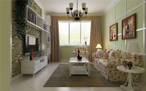 田园风格二居室客厅装修图片