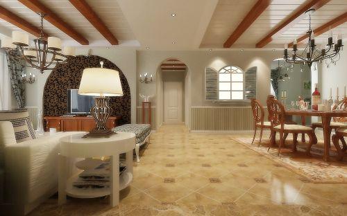 田园风格二居室客厅吊顶装修效果图大全