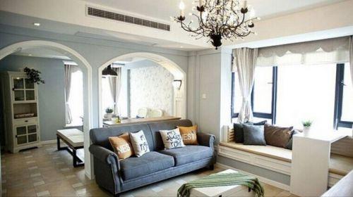 田园风格二居室客厅沙发装修图片