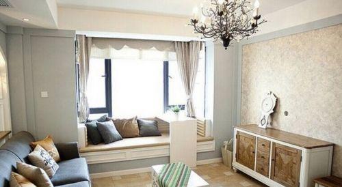 田园风格二居室客厅飘窗装修图片